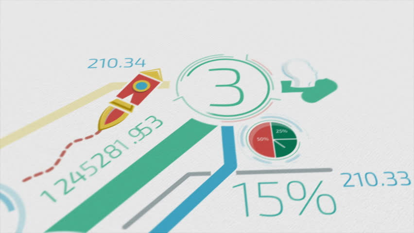 Business Background With Elements Of Infographics 4K