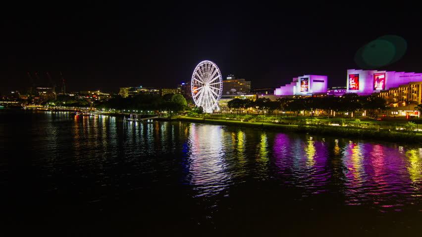 Australia Ferris Wheel at Nighttime : Time Lapse  A time lapse at night of a ferris wheel in Australia near Sydney. | Shutterstock HD Video #18341428