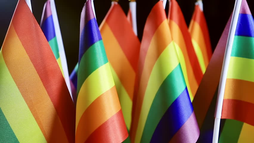 LGBT rainbow small flags background Community | Shutterstock HD Video #18367588