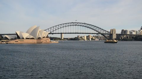 Sydney Harbour and city skyline, Australia