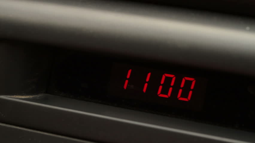 Electronic Clock On the Car Stock Footage Video (100% Royalty-free)  18397588 | Shutterstock