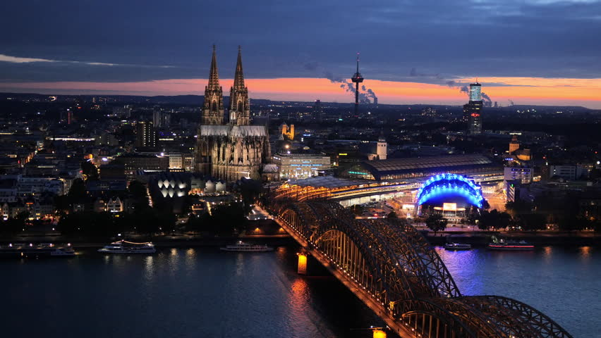 at night germany Cologne
