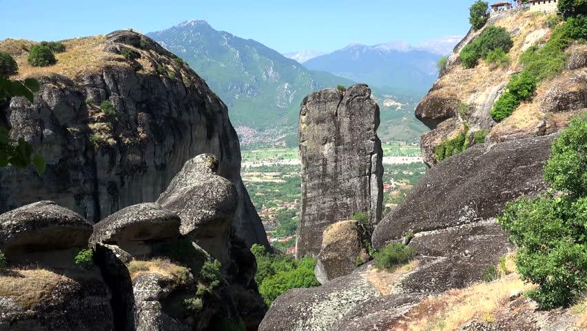Meteora monolithic mount formation. Greece