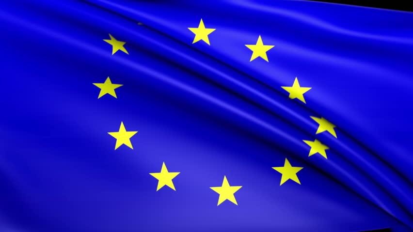 europe eu flag seamless looping animation 4k high