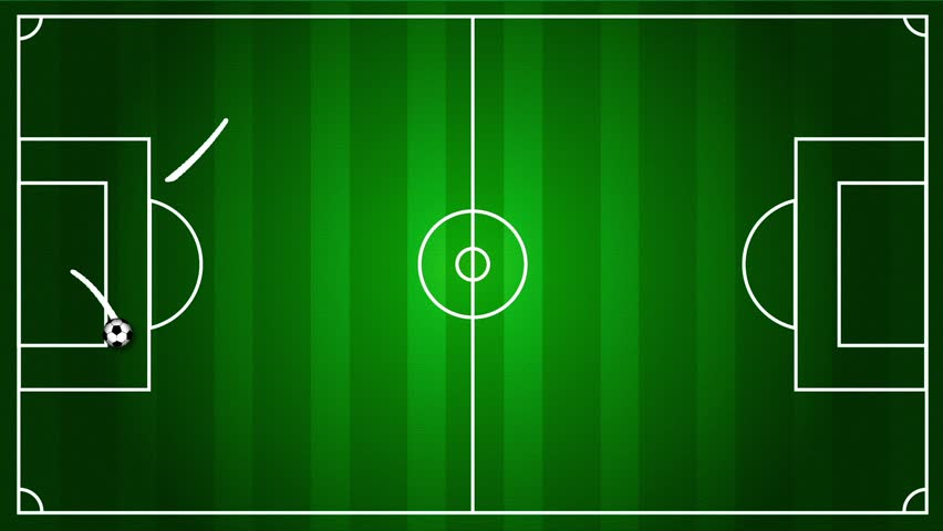 Soccer field with the ball rolling around  | Shutterstock HD Video #1846378