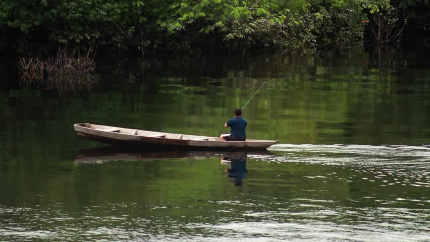 Riverine fishing on the river amazon, Manaus, Brazil 2015