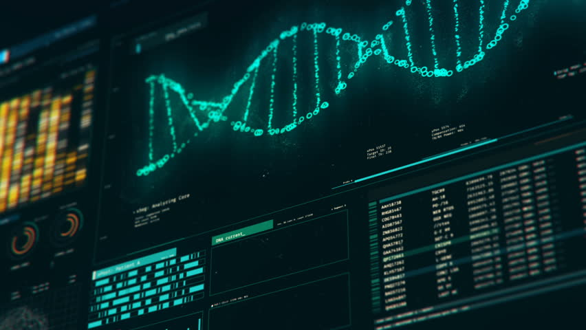 Analyzing DNA structure, forensic research, genes and genetic disorders, science. DNA molecules analysis, biochemistry, statistics in graphs and charts | Shutterstock HD Video #18576188