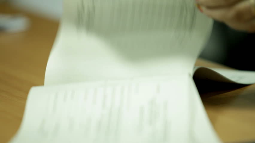 Woman puts the print on documents | Shutterstock HD Video #1862368