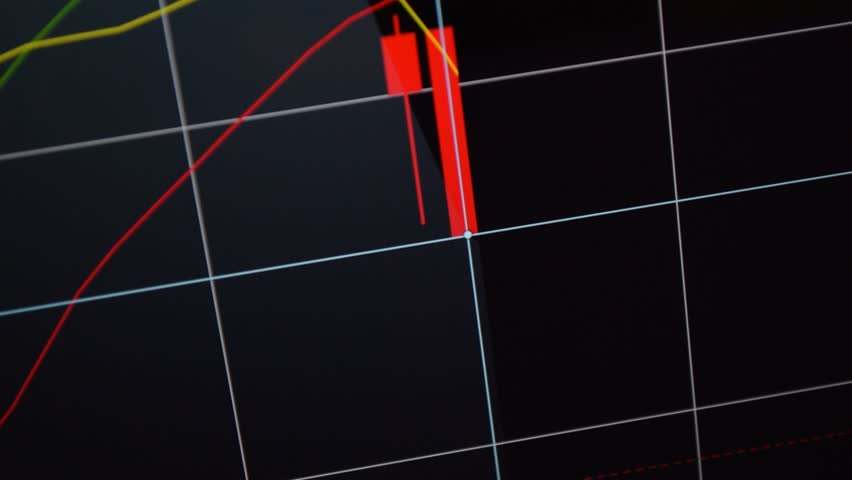 Stock market down, rapid declining graph. Graph symbolising stock market collapse, financial markets crash. Red bears candle chart, the drop of bitcoin on the stock market. Stock footage fullhd video. | Shutterstock HD Video #18642941