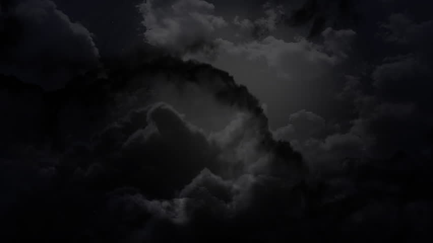 the cloudy dark sky and thunder animation