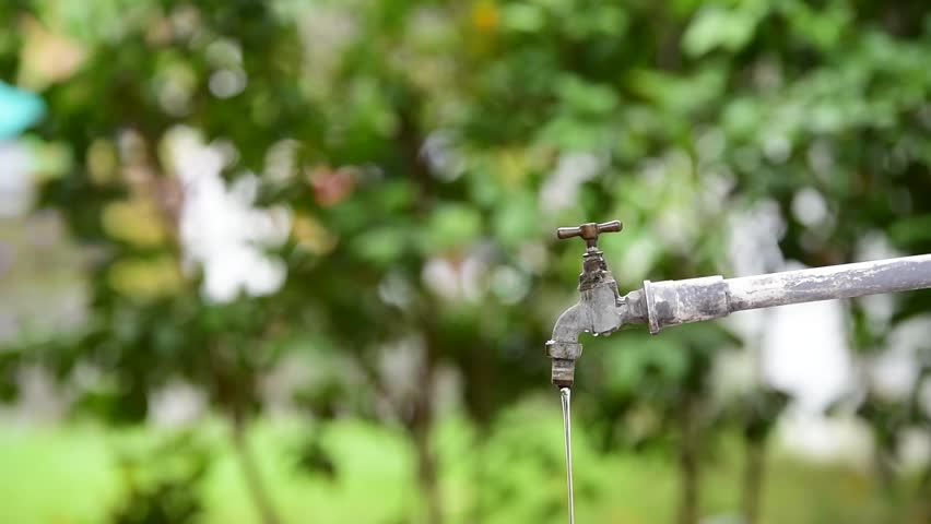 Young Thai boy take close the old faucet in the garden to safe water. Earth day concept. | Shutterstock HD Video #18785948