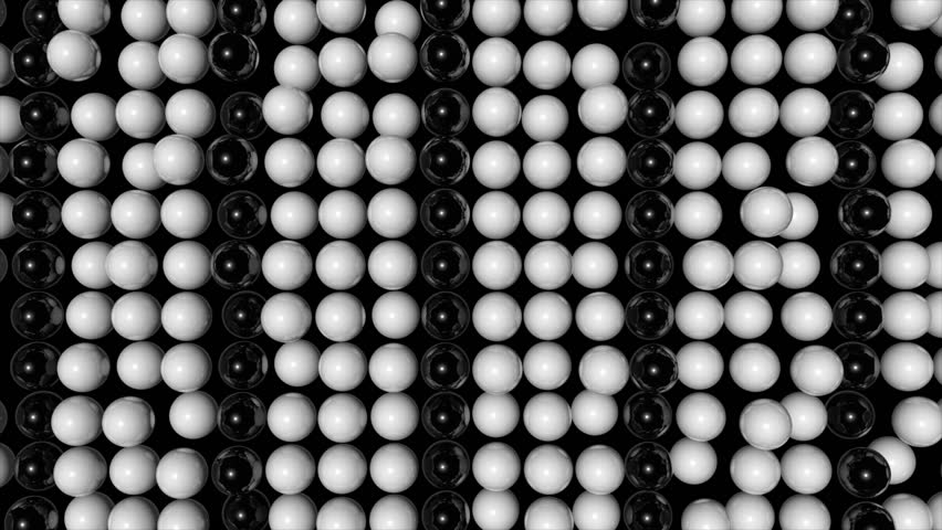 Abstract random animated background with black and white spheres. Seamless loop | Shutterstock HD Video #18799838