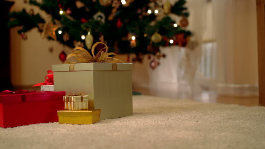 Red Gifts On White Background. Holiday 3d Animation Stock Footage ...