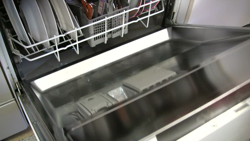 Opening the Dishwasher
