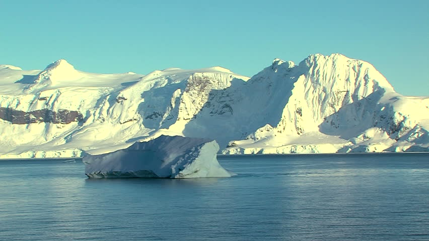 iceberg in the current in antarctica