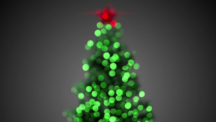 Blurred Christmas Tree. Seamless Loop Festive Background. 4k (4096x2304)    4K Stock