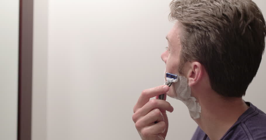 Man Wet Shaving to Remove Stock Footage Video (100% Royalty-free) 18997888  | Shutterstock