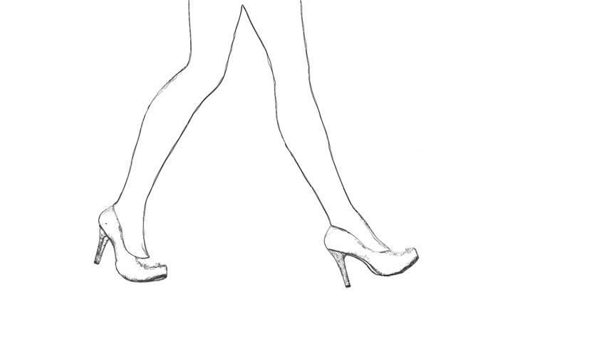 Side View Heel Shoe