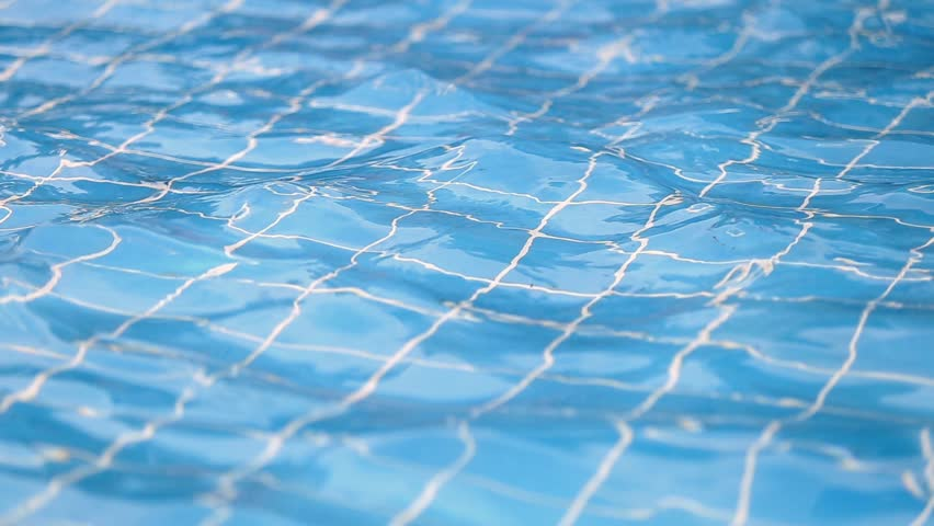 Pool Water Hd swimming pool blue water and sunlight reflection effect stock