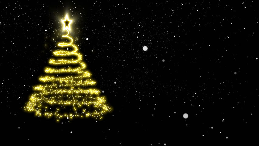 golden lights spiraling upwards to form an abstract christmas tree with a star treetopper black - Gold Christmas Tree Lights