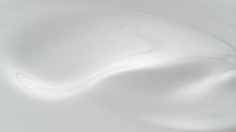 Swirl in milky liquid surface. Shot with high speed camera, phantom flex 4K. Slow Motion.