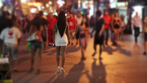 Prostitutes are waiting for costumer in Patong, Phuket, Thailand