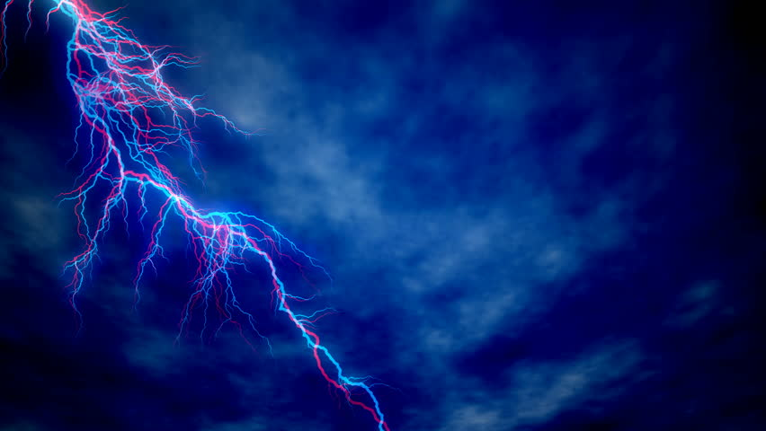 Blue Lightning Stock Footage Video 5376179