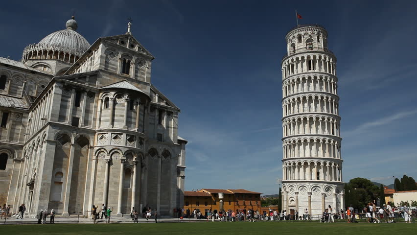 Leaning Tower, Dome of Pisa, Tuscany, Central Italy, Square of Miracles, Tourists Attraction, UNESCO
