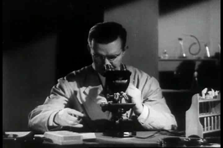 Optical science helps progress medical research and aviation technology. ( 1940s) - SD stock
