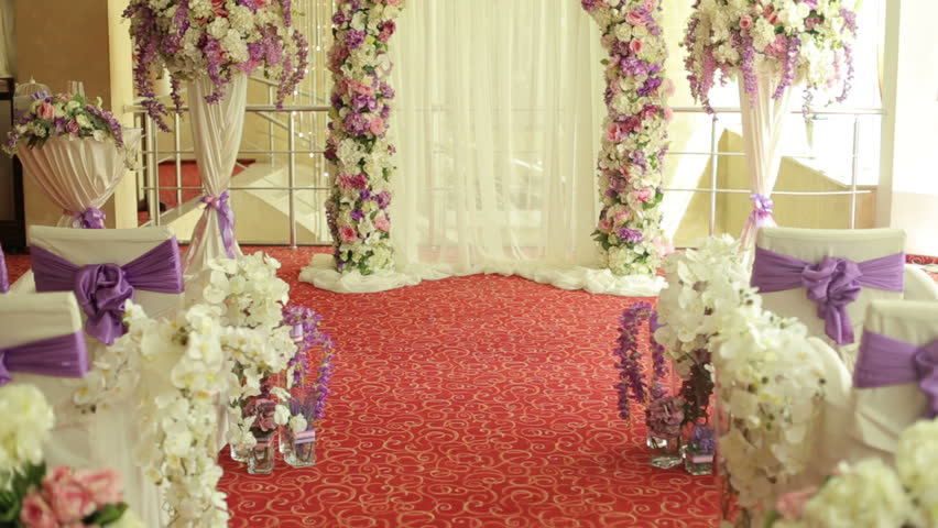 Flowers For Wedding Ceremony, Wedding Stock Footage Video