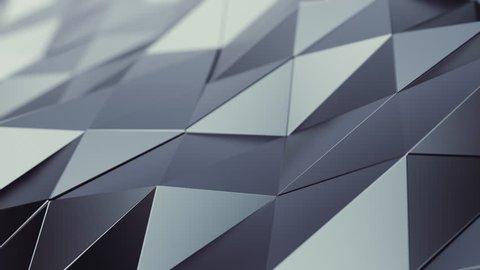 Abstract Metallic Background Random Motion, 3d Loopable Animation 4k