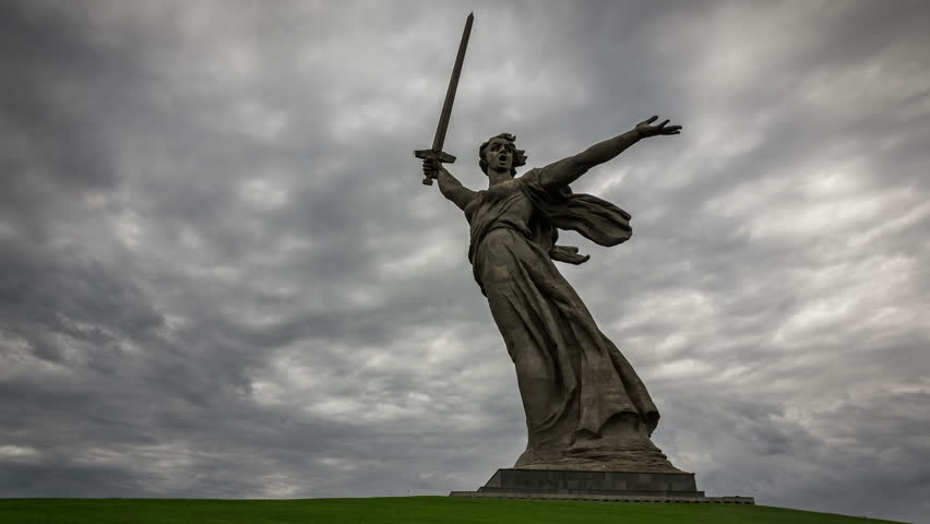 VOLGOGRAD, RUSSIA - August 10, 2016: a Monument of the Motherland.