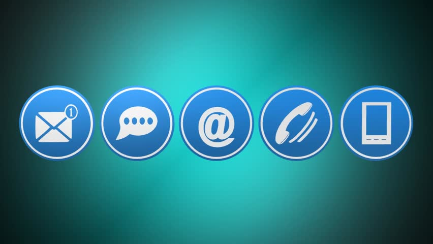 Web Contact Us Icons On Blue Tags | Shutterstock HD Video #19286608
