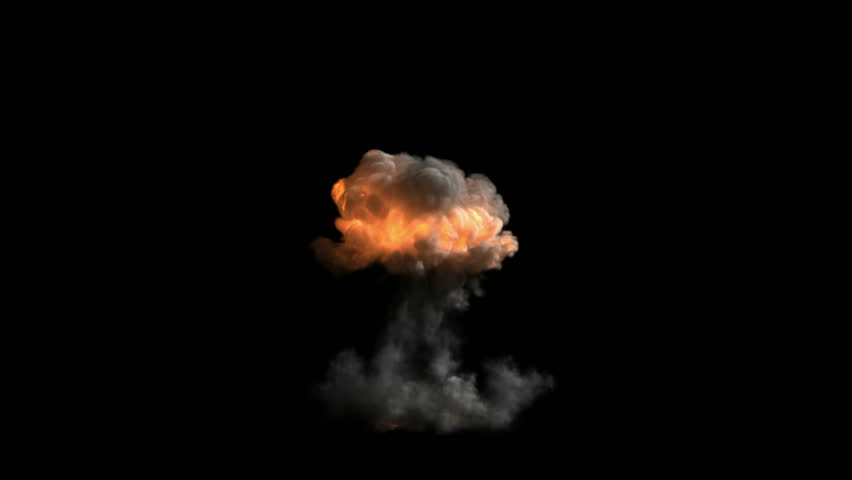 Bomb explosion with alpha channel