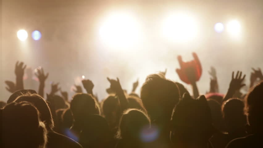 Footage of a crowd partying at a rock concert | Shutterstock HD Video #1935808