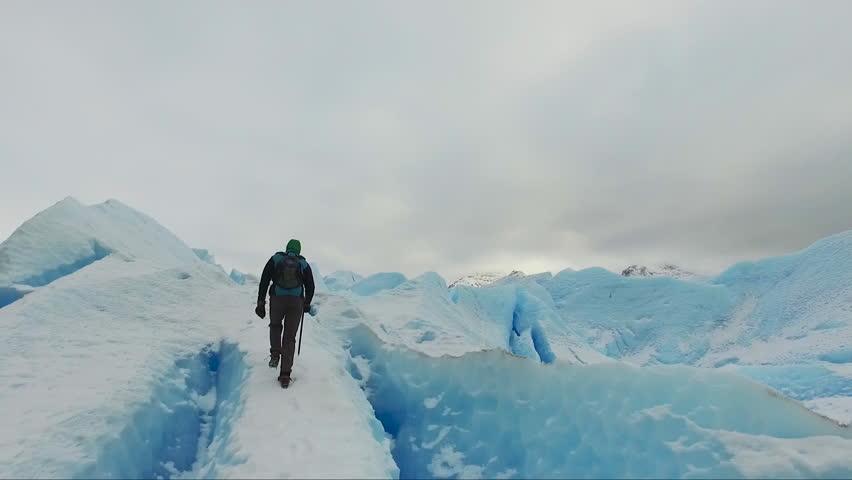 Trekking on the ice Perito Moreno glacier, National park Los Glaciares, Patagonia, Argentina | Shutterstock HD Video #19370308