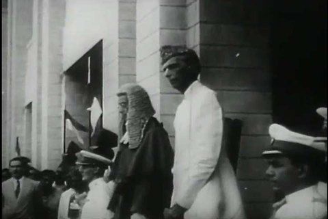 Pakistan's independence in 1947, and its Muslim leader, Muhammad Ali Jinnah. (1940s)