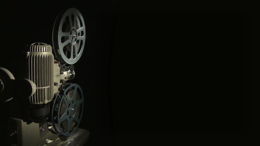 Film Reel Of An 8mm Vintage Projector And Black Background ...