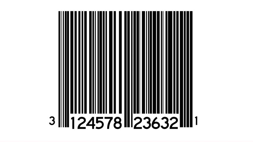Bar Codes Scanned Looping Background