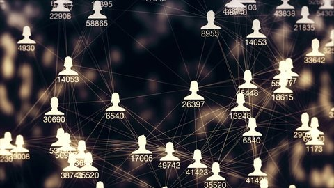 a lot of connections between avatars of men and women and increasing numbers of relationships or friends