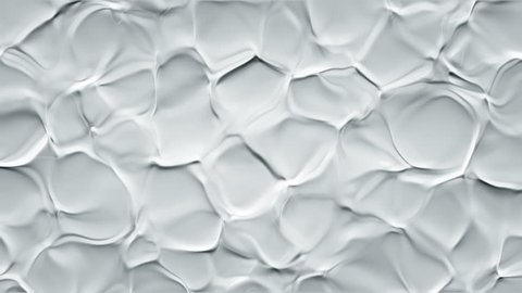 Abstract background with animation of ripples in organic surface. Animation of seamless loop.