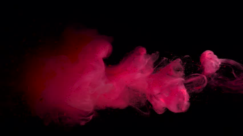 Paint movement dissolved in water on a black background. | Shutterstock HD Video #19455028