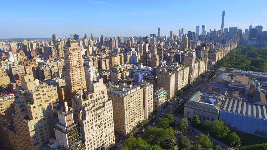 Skyline Aerial View Of The Upper East Side And Central