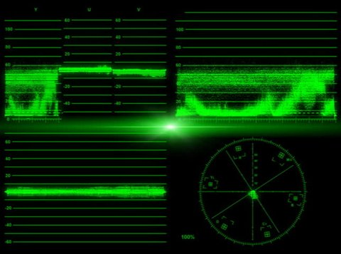 Video Vector Monitor with Four Stock Footage Video (100