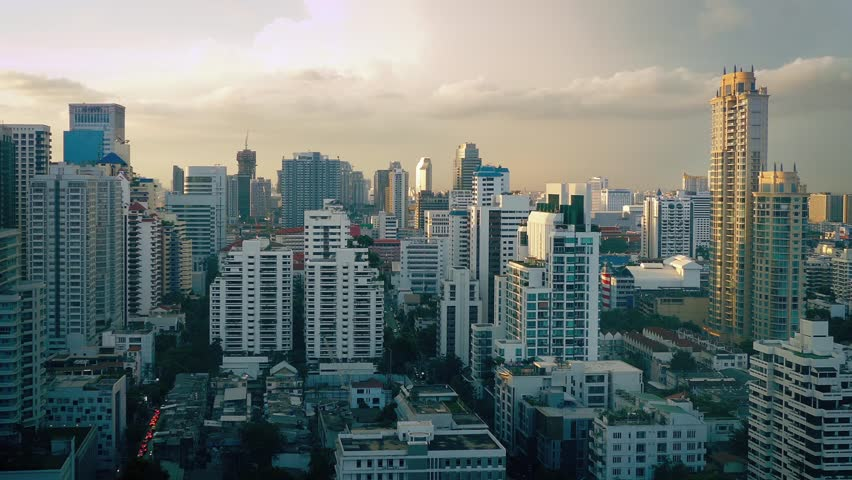 View Over City At Sunset | Shutterstock HD Video #19569229