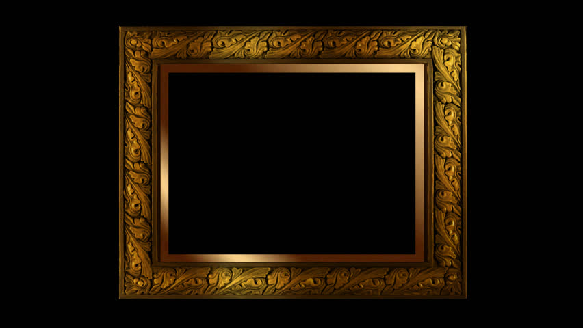 empty wood frame hd stock footage clip - Moving Picture Frames