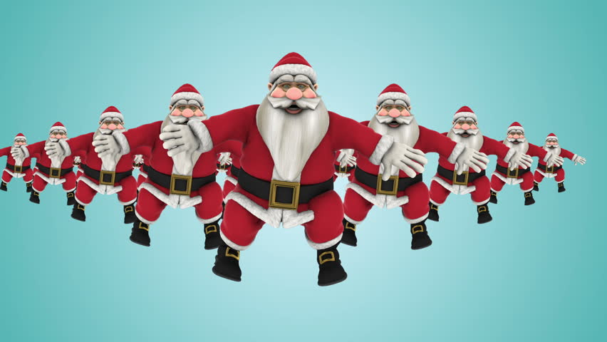 Funny Christmas Picture.Group Of Santa Claus Hip Stock Footage Video 100 Royalty Free 19626508 Shutterstock