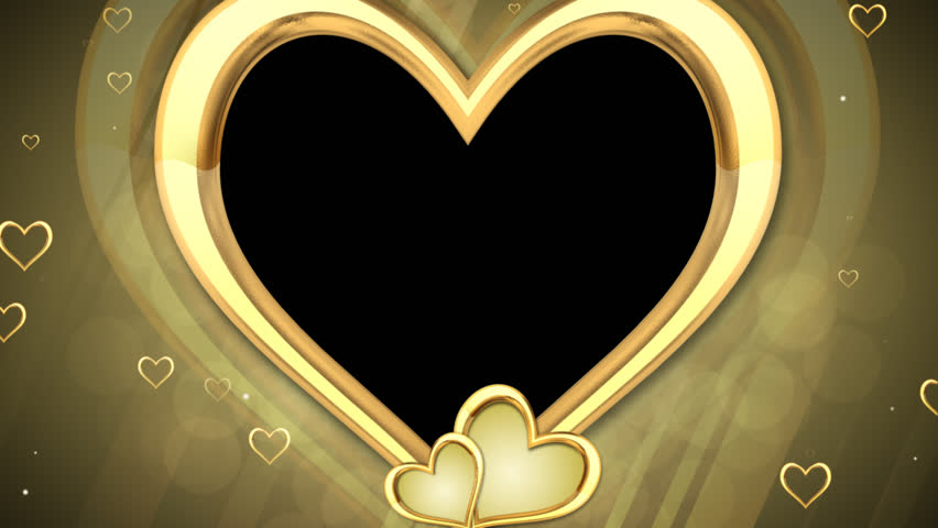 Stock Video Of Gold Hearts Overlay 1966528 Shutterstock