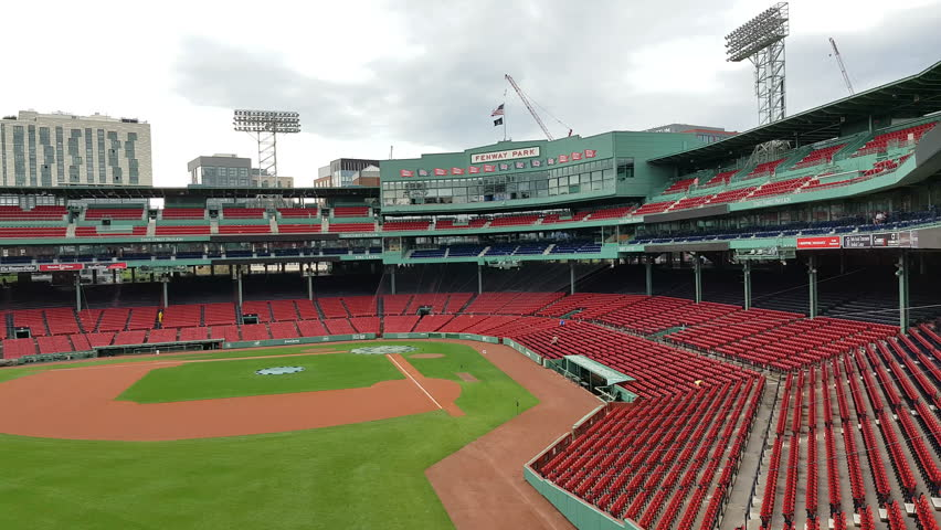 BOSTON, USA, SEPT. 10: Inside view of Boston's Fenway Park.  It is the oldest ballpark in MLB in Boston on Sept 10, 2016.