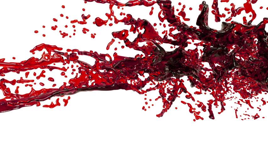 Oil. big splashes. red liquid   Shutterstock HD Video #19747858